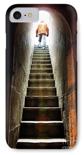 Dungeon iPhone 8 Case - Basement Exit by Carlos Caetano