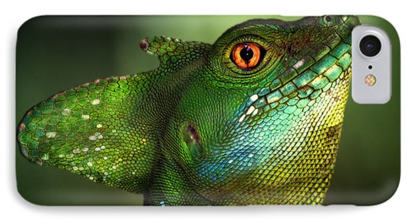 Dragon iPhone 8 Case - Basilisca Verde by Jimmy Hoffman