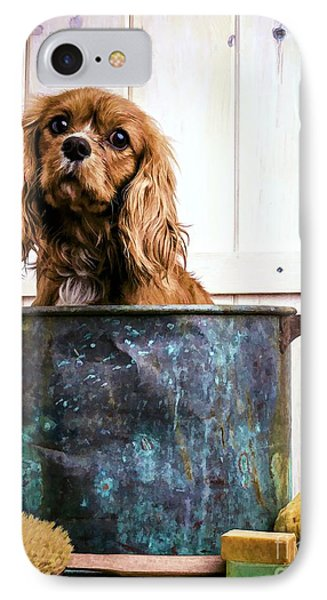 Bath Time - King Charles Spaniel IPhone Case