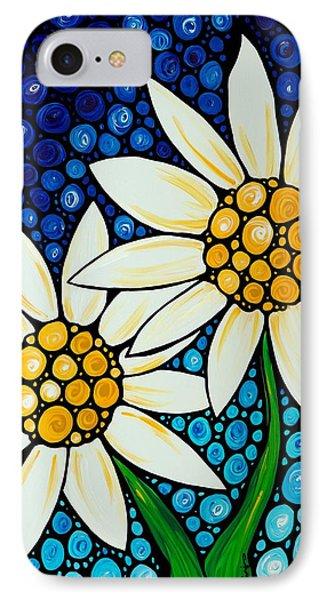 Daisy iPhone 8 Case - Bathing Beauties - Daisy Art By Sharon Cummings by Sharon Cummings