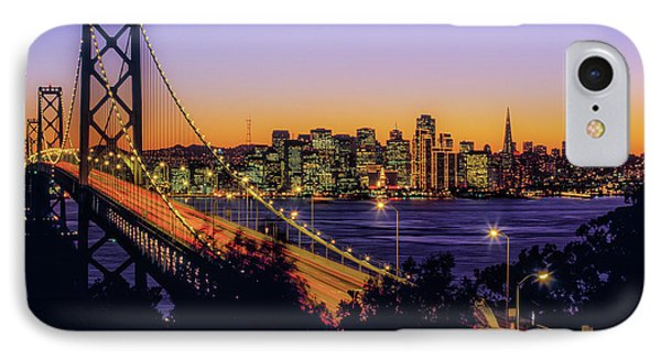 Bay Bridge At Dusk, San Francisco IPhone Case