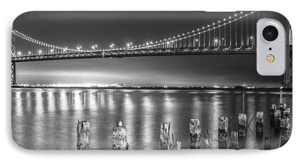 Bay Bridge Black And White IPhone Case