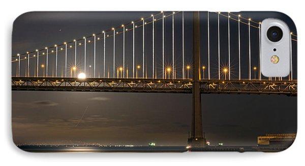 Bay Bridge Moon Rising IPhone Case