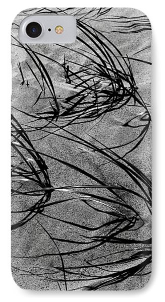 Beach Grass Black And White IPhone Case