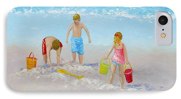 Beach Painting - Sandcastles IPhone Case