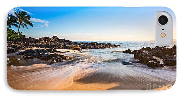 Beach Paradise - Beautiful And Secluded Secret Beach In Maui. IPhone Case