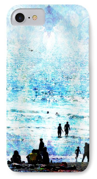 Beach Scene Expressions IPhone Case