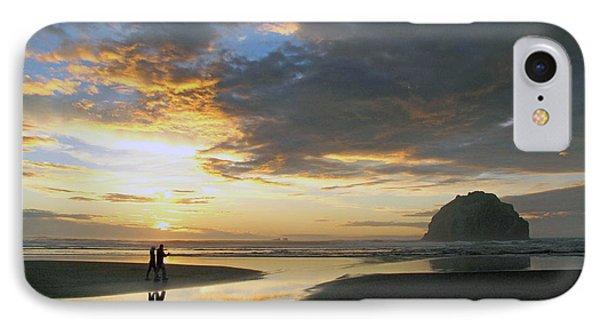 Bandon Beach Stroll IPhone Case