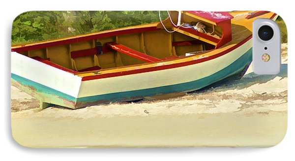 Beached Fishing Boat Of The Caribbean IPhone Case