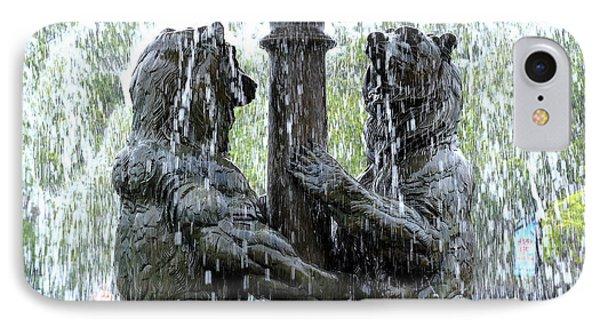 Bear Fountain IPhone Case