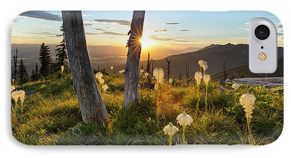 Beargrass At Sunset In The Swan Range IPhone Case