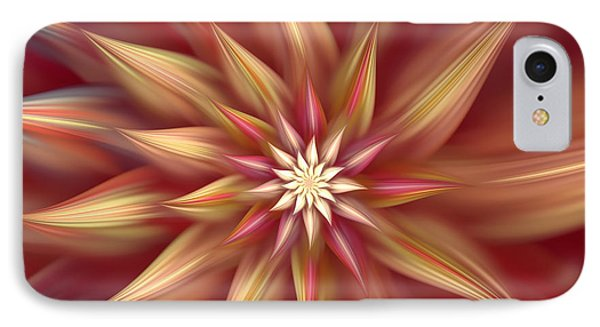 Beautiful Dahlia Abstract IPhone Case