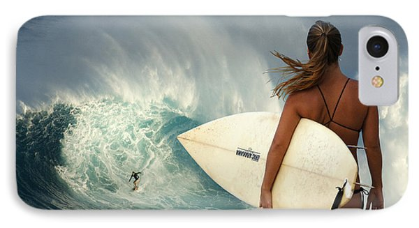 Surfer Girl Meets Jaws IPhone Case
