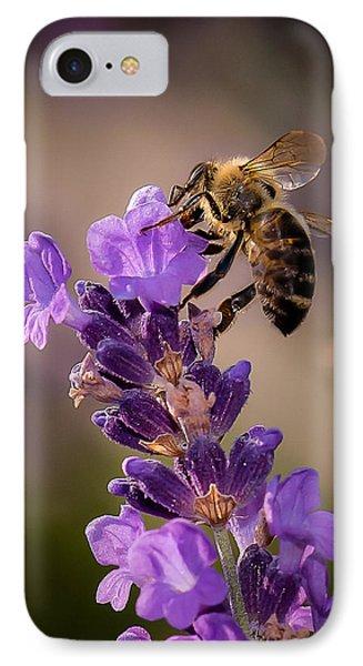Honeybee Working Lavender IPhone Case
