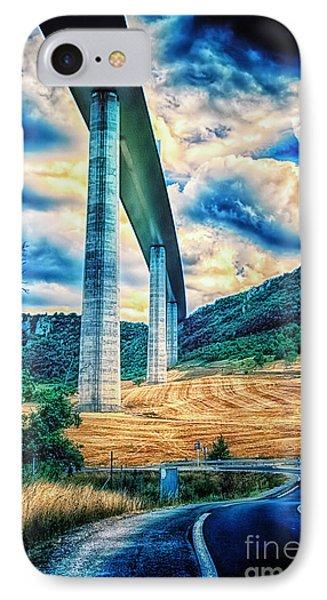 Beleau Millau Viaduct France IPhone Case