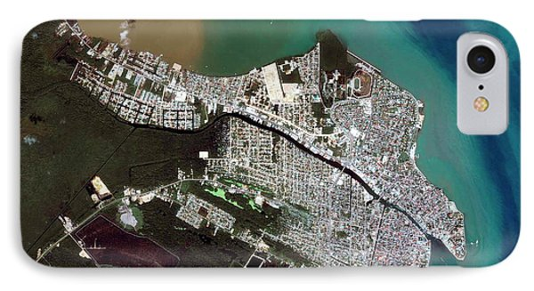 Belize iPhone 8 Case - Belize City by Geoeye/science Photo Library