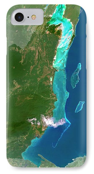 Belize iPhone 8 Case - Belize by Planetobserver/science Photo Library
