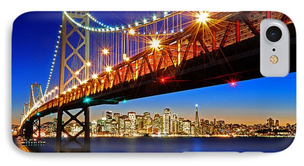 Below The Bay Bridge And San Francisco Skyline IPhone Case