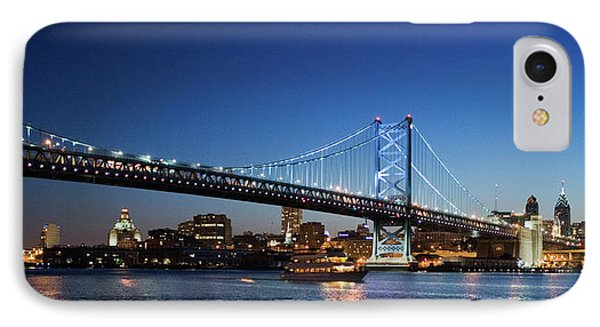 Ben Franklin Bridge At Dusk IPhone Case