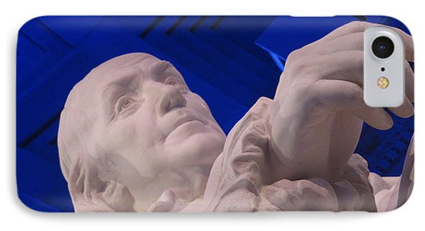 Ben Franklin In Blue I IPhone Case
