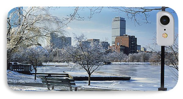 Benches In A Park, Charles River Park IPhone Case