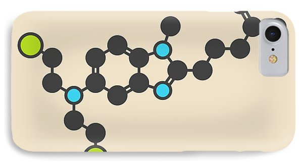 Mustard iPhone 8 Case - Bendamustine Cancer Drug Molecule by Molekuul