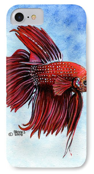 Betta-big Red IPhone Case