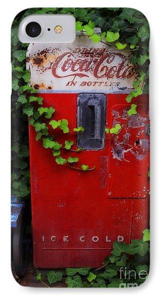 Austin Texas - Coca Cola Vending Machine - Luther Fine Art IPhone Case