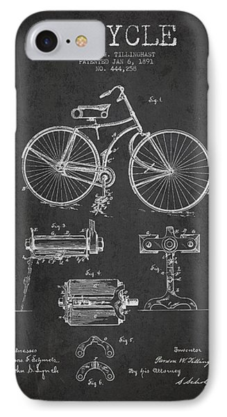 Bicycle iPhone 8 Case - Bicycle Patent Drawing From 1891 by Aged Pixel