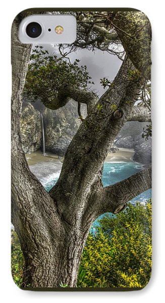 Big Sur Mc Way Falls At Julia Pfeiffer State Park-1 Central California Coast Spring Early Afternoon IPhone Case