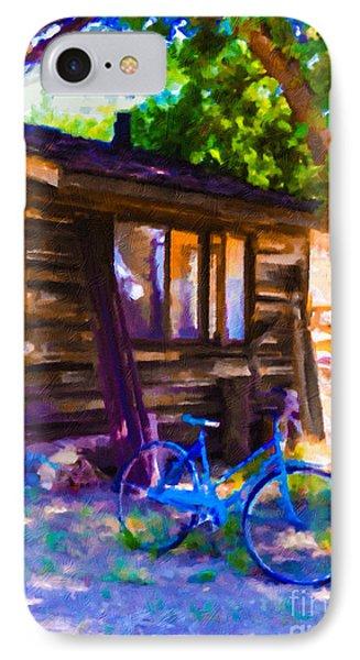 Bike At Hillside Cabin IPhone Case