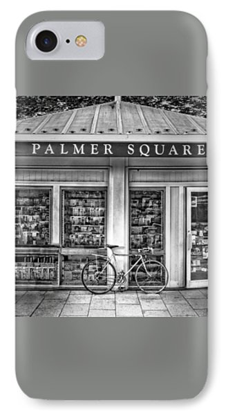 Bike At Palmer Square Book Store In Princeton IPhone Case