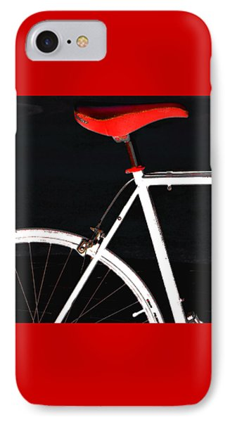 Bike In Black White And Red No 1 IPhone Case