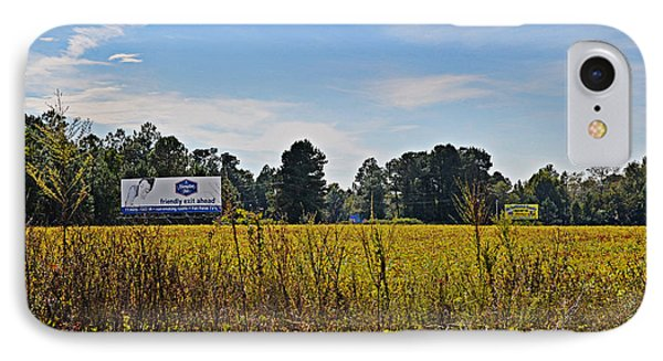 Billboards Over A Bean Field IPhone Case