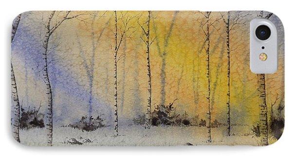 Birch In Blue IPhone Case