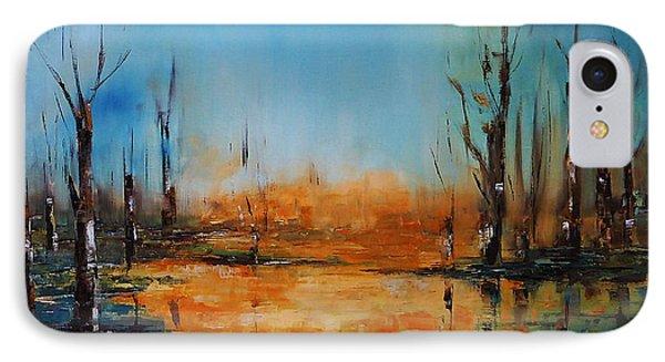 Birches Pond IPhone Case