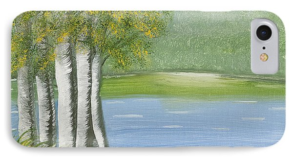 Birches By The Lake IPhone Case