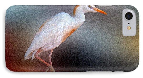 Bird In Faux Oil IPhone Case