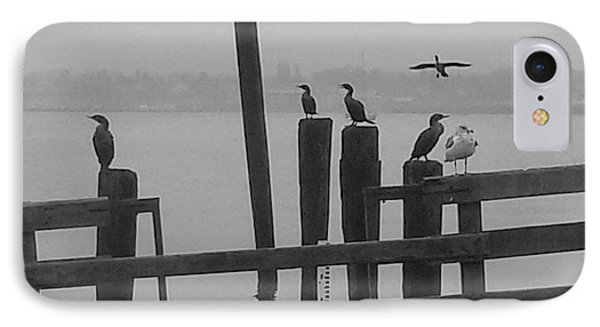 Bird Party In Black And White IPhone Case