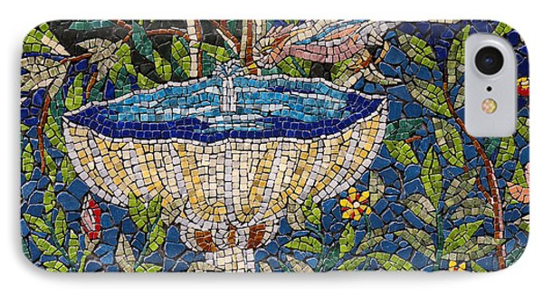 Birdbath Mosaic IPhone Case
