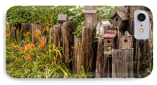 Birdhouses Beside A Country Road IPhone Case