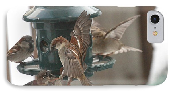Birds At The Feeder IPhone Case