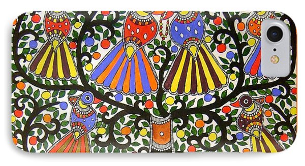 Birds-madhubani Painting IPhone Case
