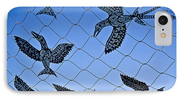 Birds Of Paradise Caught In A Net IPhone Case