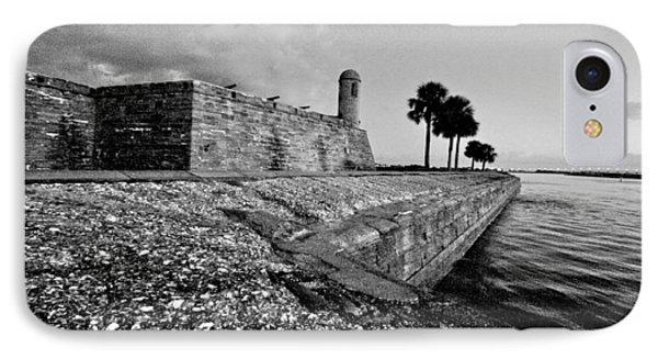 Black And White Castillo De San Marcos View 3 IPhone Case