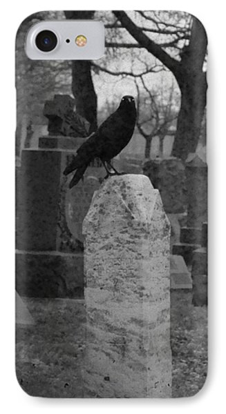 Black And White Graveyard IPhone Case