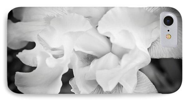 Black And White Hibiscus IPhone Case