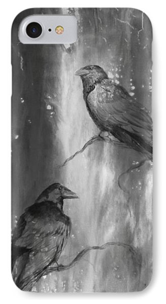 Black And White Ravens IPhone Case