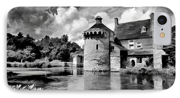 Scotney Castle In Mono IPhone Case