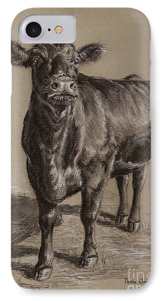 Cow iPhone 8 Case - Black Angus Cow 1 by Nicole Troup